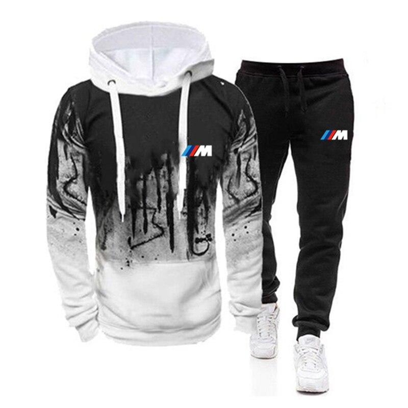 2020 Brand joggings Men Autumn Winter Thick Warm Fleece Zipper Coat for Mens  Tracksuit Male BMW M Power Print Hoodies